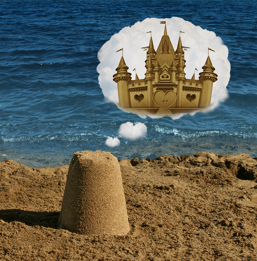 amazing dreams for small business owners - image of sand castle - how to maximize resources in your small business